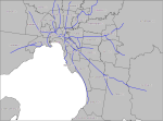 Melbourne LGA reference map