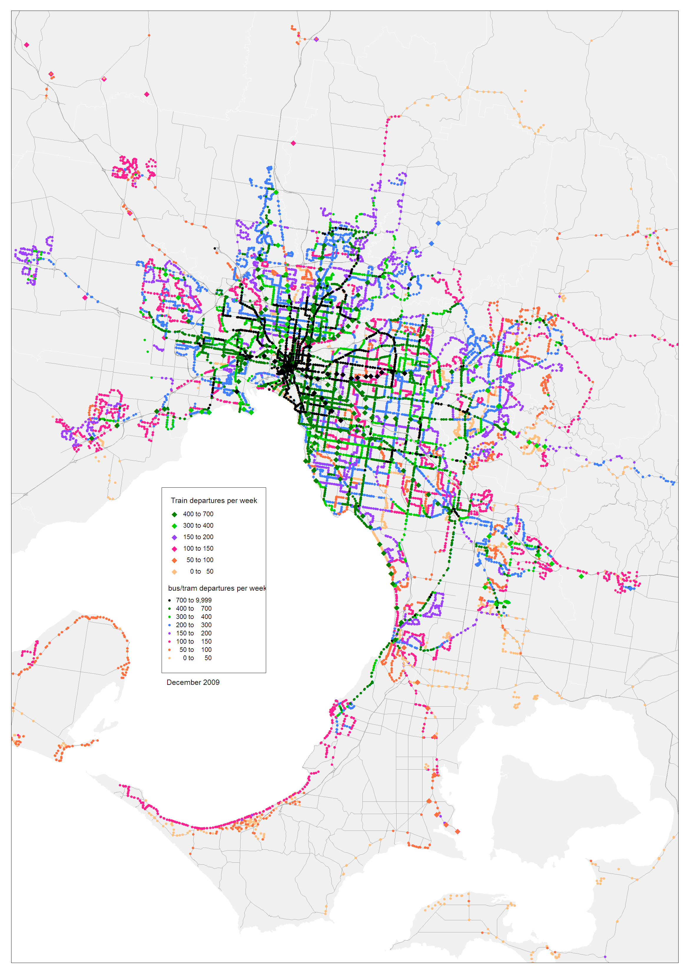 Mapping public transport service provision Charting Transport