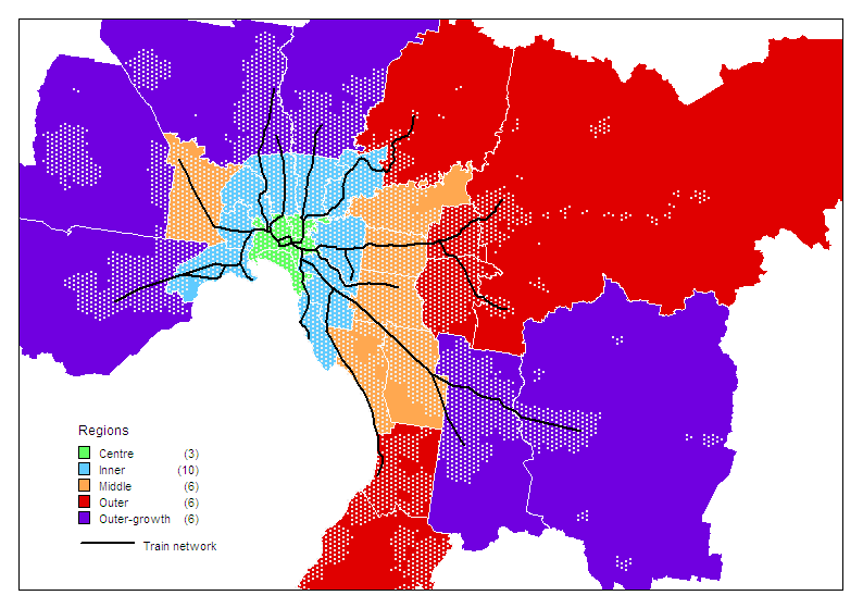 Melbourne Urban Sprawl And Consolidation Charting Transport - Urban grown us map