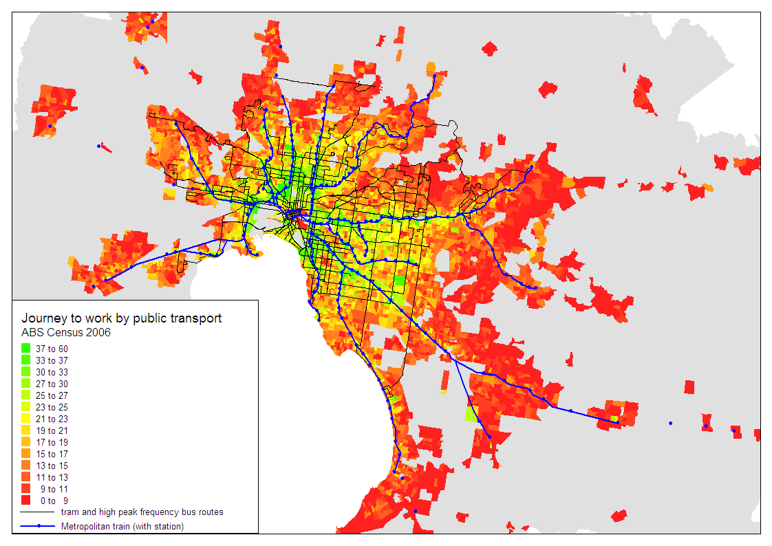 A Spatial Analysis Of Melbourne 2006 Journey To Work Mode Shares
