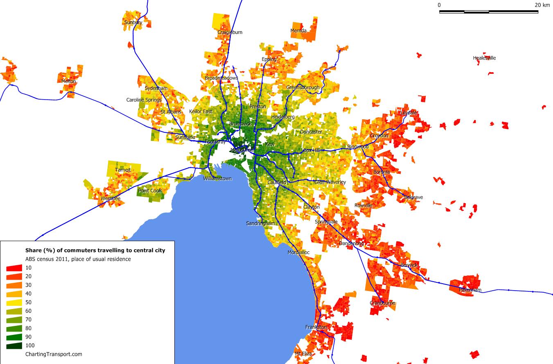 Melb 2011 share to central city v2