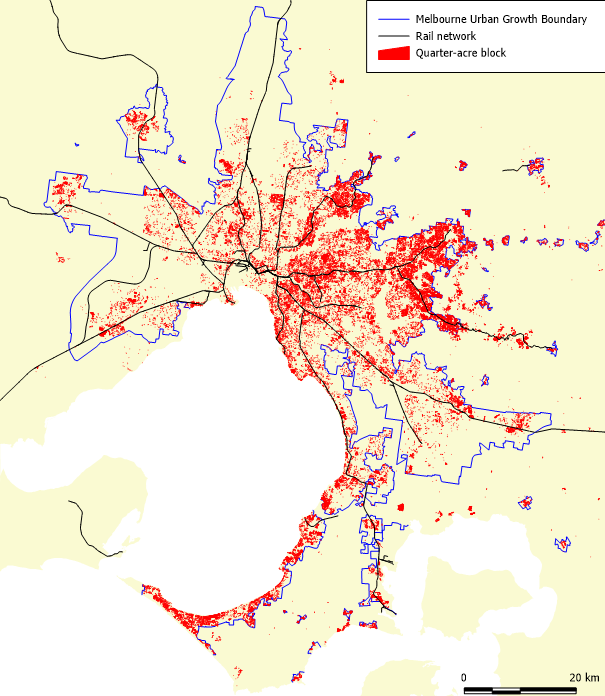 Urban Planning Charting Transport - Urban grown us map